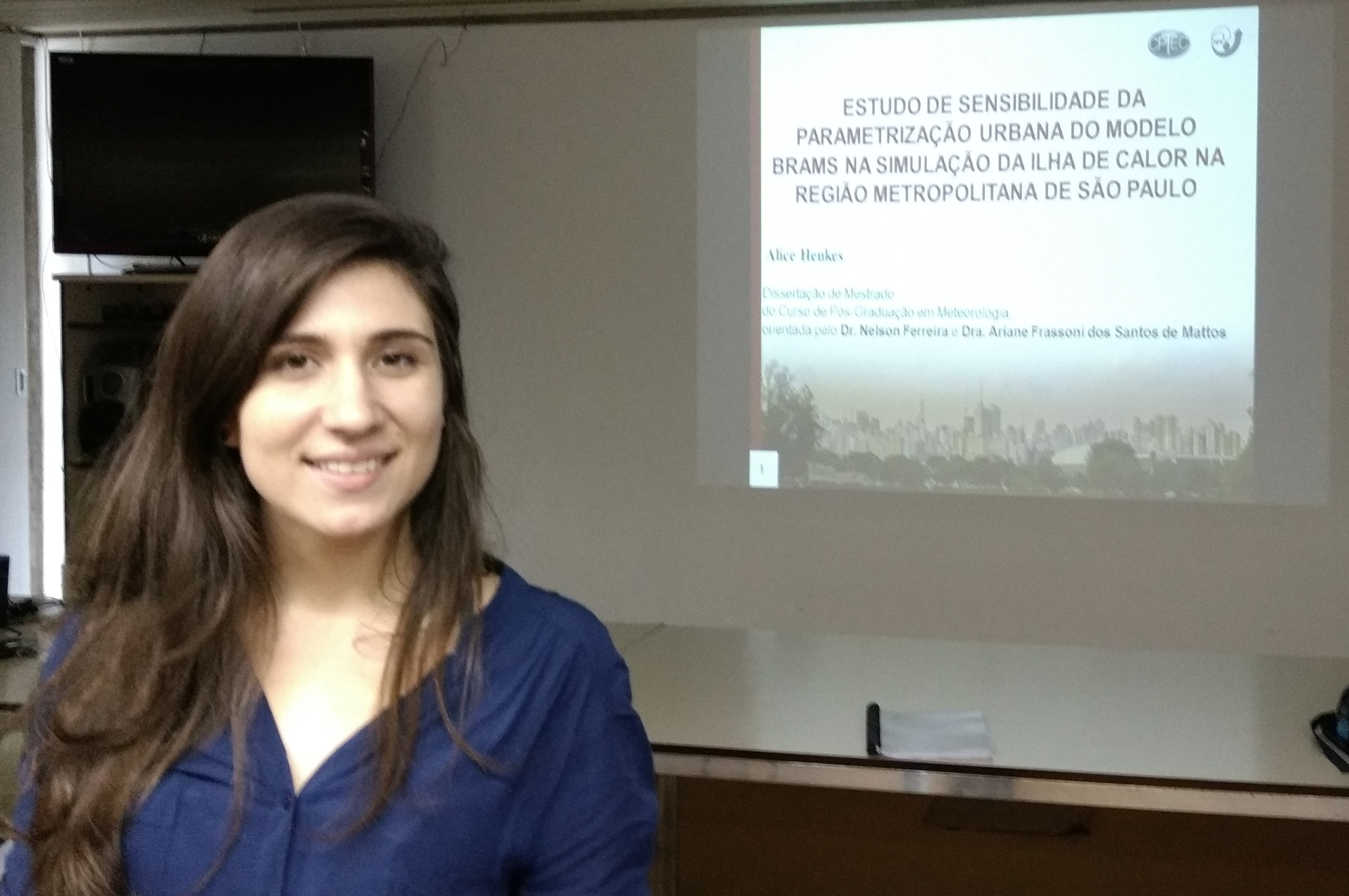 Master dissertation using BRAMS focused on the urban area of São Paulo